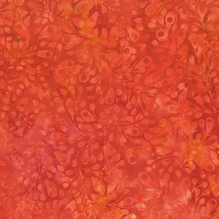 268Q 5 Batik The Singing Butler Red for Anthology Fabrics. 100% cotton 43 wide