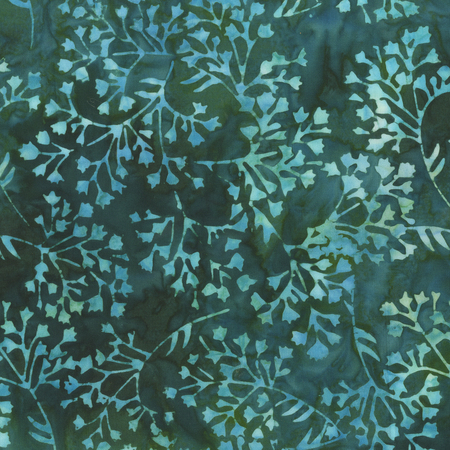403Q 6 Batik Botanicals Poseidon for Anthology Fabrics.100% cotton 43 wide