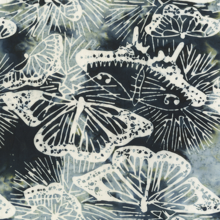 Batik- Cotton Print- Island Home- Night- Butterflies- STH#11229399