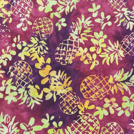Batik- Cotton Print- Fruit Basket- Grape- Pineapple Floral- STH#11229409