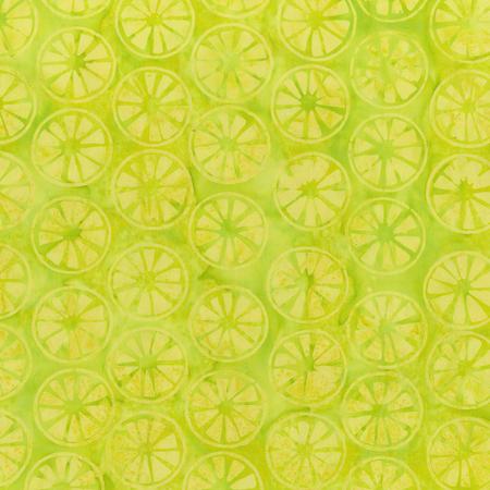 Batik- Cotton Print- Fruit Basket- Lime- Citrus- STH11229412