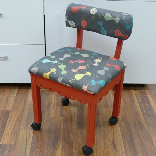 Red Sewing Chair / Black Cat's Meow