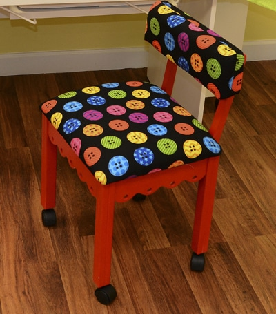 Red Sewing Chair Black