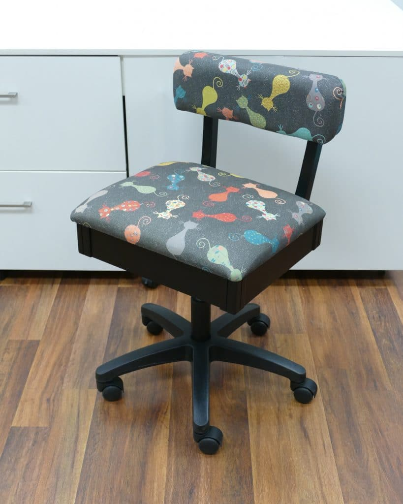 Chair - Adjustable Height Hydraulic - Cats Meow on Grey