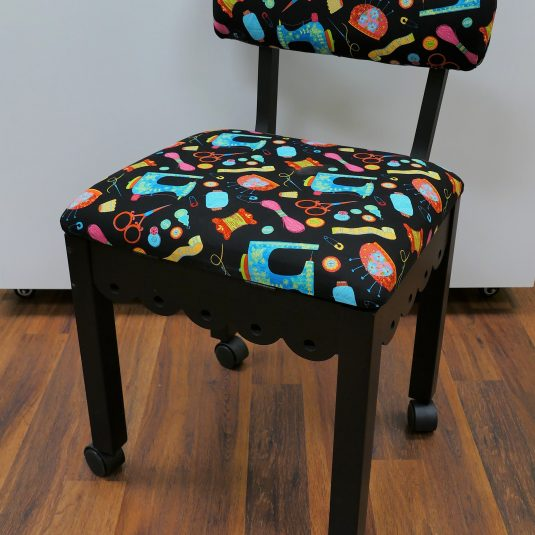 Black Sewing Chair Black