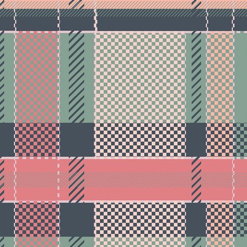 Coral Views Plaid - Art Gallery Cotton