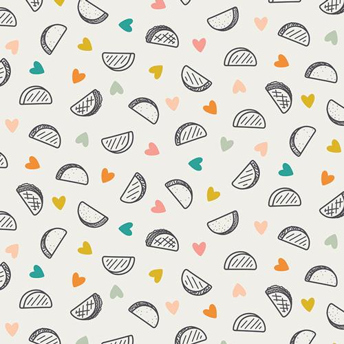 Taco Love Light - Art Gallery Cotton
