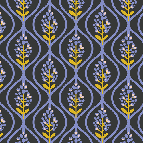 Bluebonnet Midnight - Art Gallery Cotton