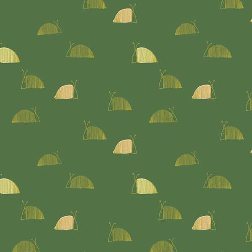 DWM 45606 Moss's Snail Mail Dew & Moss by Alexandra Bordallo for Art Gallery Fabrics. 100% cotton 43 wide
