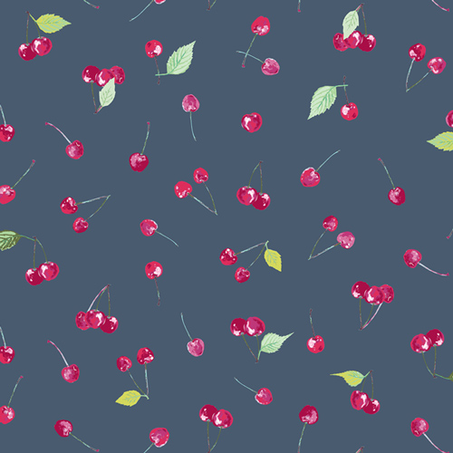 K-17403 Cherry Picking KNIT from Floralish by Katarina Roccella Art Gallery Fabric