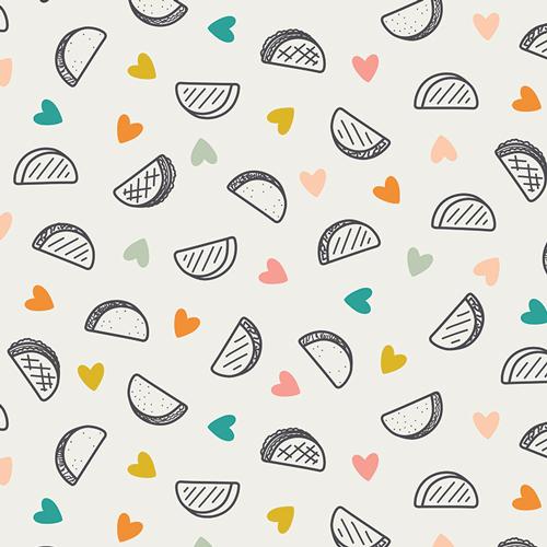 Art Gallery Fabrics Stretch Cotton Jersey - Taco Love Light