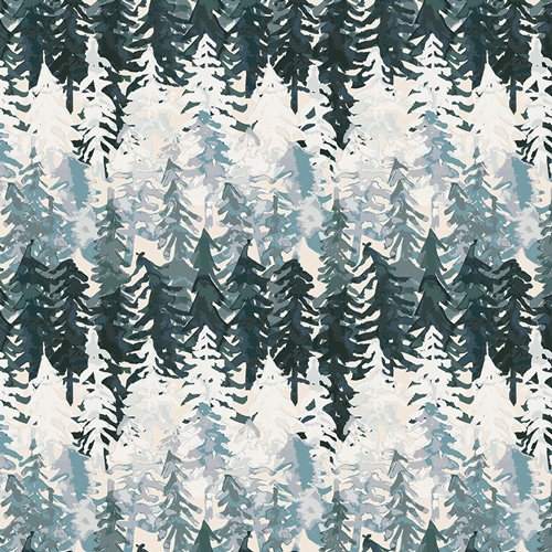 Mountain Viewdael teal ombres trees