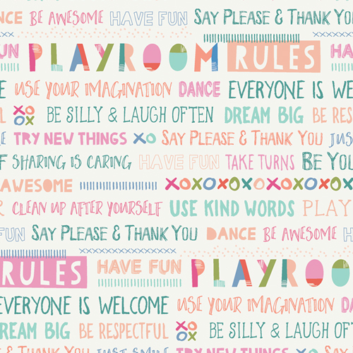 Playroom, Rules, by Mr. Domestic for Art Gallery Fabrics