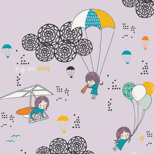 Hei Sky Lavenderine - Art Gallery Cotton