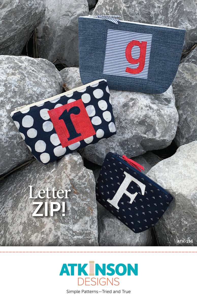 Letter ZIP! Pattern - Atkinson Designs