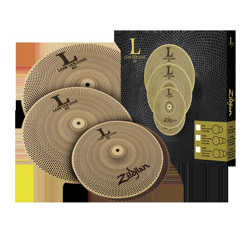 Zildjian LV468 Low Volume L80 14/16/18 Cymbal Set