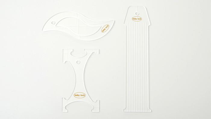 1/4 Acrylic Basic Ruler Set- High Shank - 3 ruler