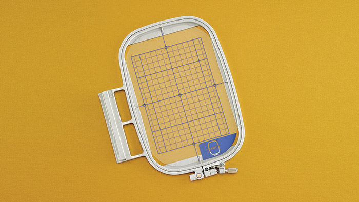 Embroidery Hoop and Grid (5 x 7) Slide on