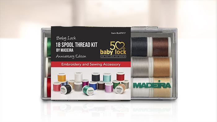 Baby Lock 18 Spool Thread Kit by Madeira - Anniversary Edition