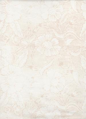 Batik Cream W/Beige Checks&Flowers