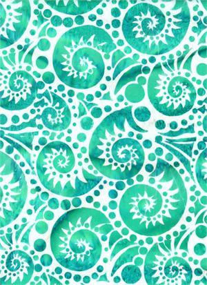 Batik Textiles Conch Shell Teal - 3205
