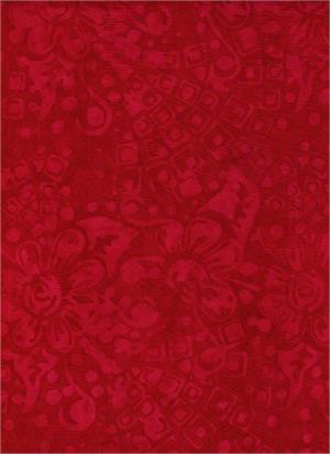 BATIK MEMORIES FROM ATHENA RED TONAL PRINT 4134