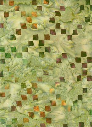 Batik Textiles 4422 Tan Multi Squares
