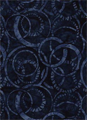 Batik Textiles 4544 Serendipity Navy Circles