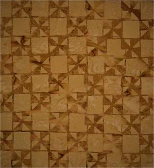 Brown on Brown Windmills Batik