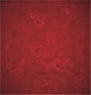 Batik Textiles - Red Cotton Batik 5365