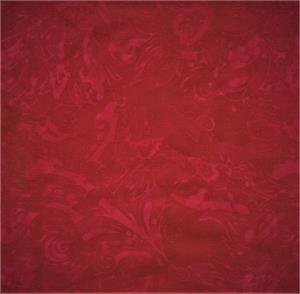 Batik Textiles - Red Cotton Batik 5366