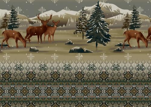 Fleece - Rocky Mountain Deer - 42306-X