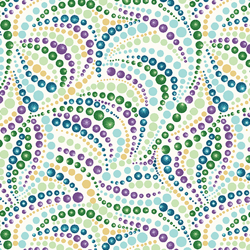 Beaded Swirls Cream/Multi