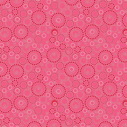 Contempo Beaded Circles Dark Pink