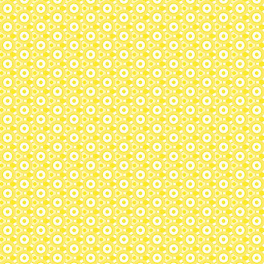 Soho Calico Circle Knot Yellow
