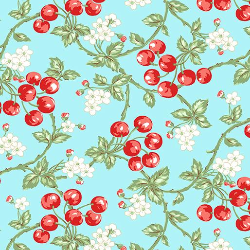 10162-05 Garden Party - Wild Cherries Blue (20E)