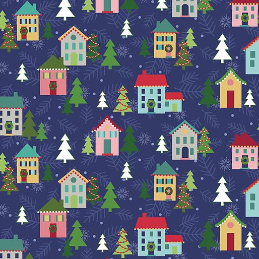 Christmas Village Navy