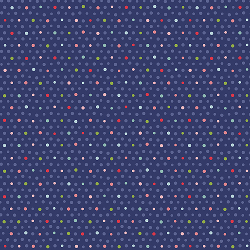 Benartex Better Not Pout Mixed Dots - Navy