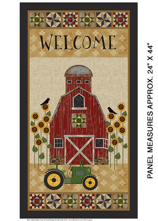 Quilt Barn Welcome Panel
