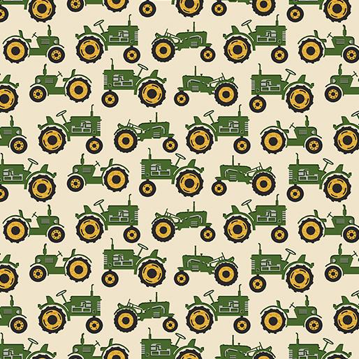 Tractor Cream/Green