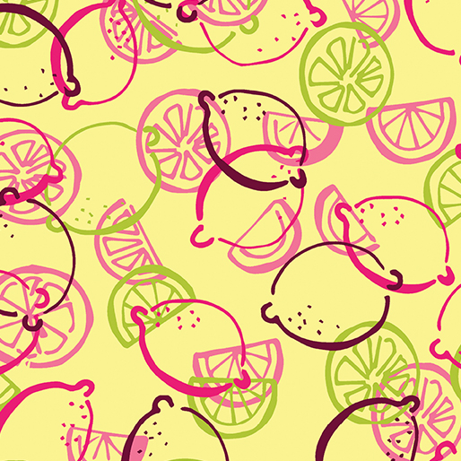 Lemon Toss:  Lemon Squeezy by Holly Helgeson for Benartex