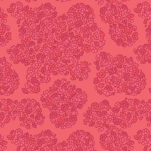 01819 10 Meadow Red Mabon for Contempo Studio. 100% cotton 43 wide