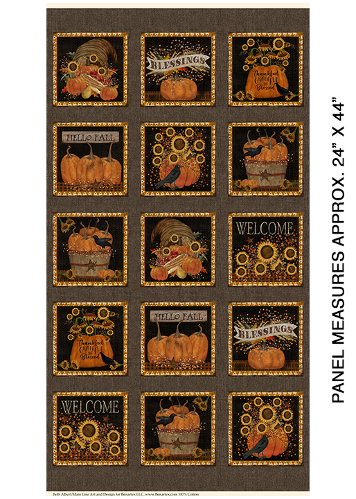 Welcome Fall - Welcome Fall Panel - by Beth Alberts for Benartex