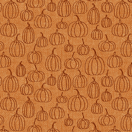 1842 38 Pumpkin Line Orange Rustic Fall