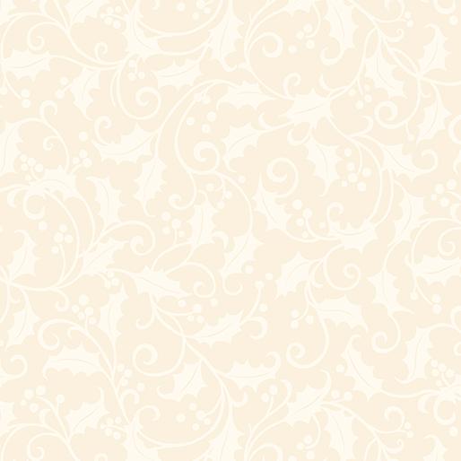 Benartex Tea Toweling Holly From Art to Heart/Nancy Halvorsen 20 Wide 1866-07 Cream