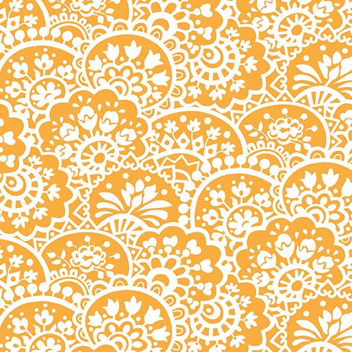 Paisley Orange:  Bree by Nancy Halvorsen for Benartex