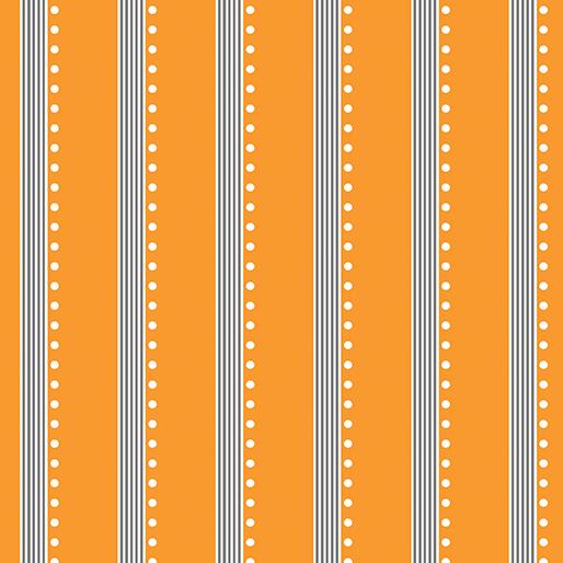 Benartex, Bree, Stripe, Orange