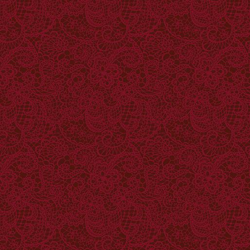 Benartex Festive Lace Dark Red (A Festive Season 3)