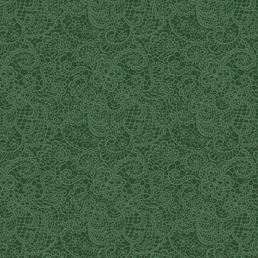 Benartex Festive Lace Green (A Festive Season 3)