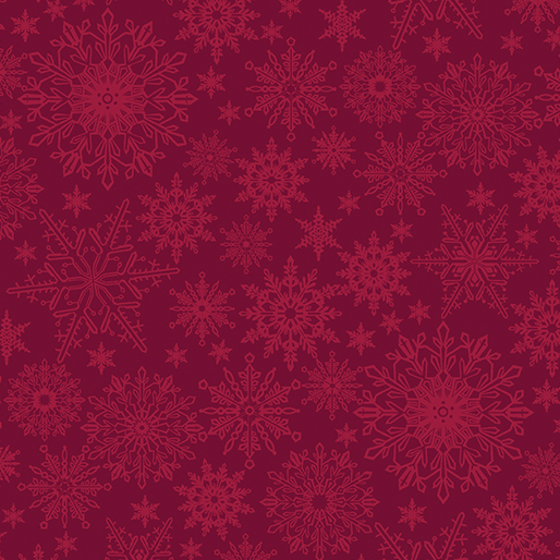 Benartex Tonal Snowflake Dark Red (A Festive Season 3)